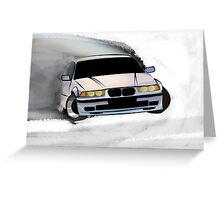 BMW E36 Drift Greeting Card