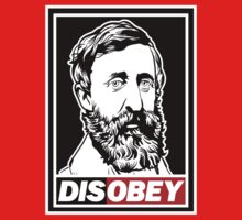 "Henry David Thoreau ""Disobey""  T-Shirt"