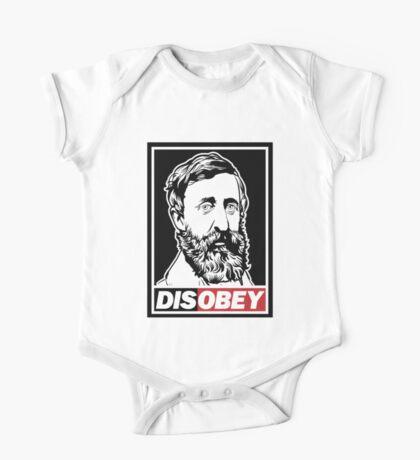"""Henry David Thoreau """"Disobey""""  One Piece - Short Sleeve"""