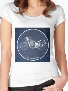 Royal Enfield Bullet 500 classic motorcycle for men cave Women's Fitted Scoop T-Shirt