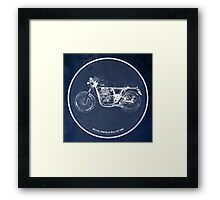 Royal Enfield Bullet 500 classic motorcycle for men cave Framed Print