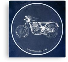 Royal Enfield Bullet 500 classic motorcycle for men cave Canvas Print