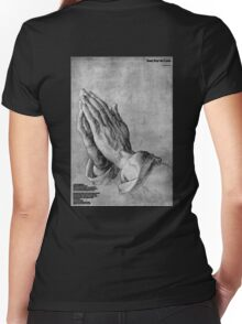 Dont Pray 4 Love Women's Fitted V-Neck T-Shirt