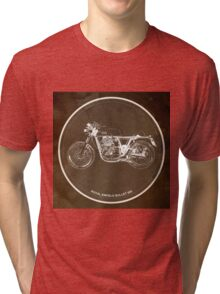 Royal Enfield Bullet 500 classic motorcycle gift for men Tri-blend T-Shirt
