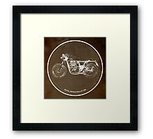 Royal Enfield Bullet 500 classic motorcycle gift for men Framed Print