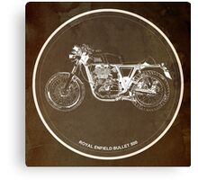 Royal Enfield Bullet 500 classic motorcycle gift for men Canvas Print
