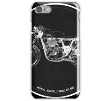 Royal Enfield Bullet 500 black art for men cave iPhone Case/Skin