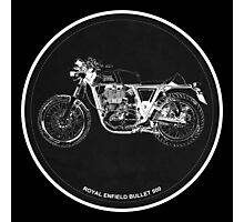 Royal Enfield Bullet 500 black art for men cave Photographic Print