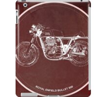 Royal Enfield Bullet 500 Classic motorcycle on red poster iPad Case/Skin