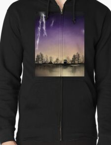 Small Doctor Who print Zipped Hoodie