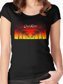 OUT RUN - LAST WAVE Women's Fitted Scoop T-Shirt