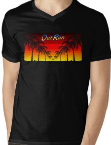 OUT RUN - LAST WAVE Mens V-Neck T-Shirt