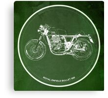 Royal Enfield Bullet 500, motorcycle Canvas Print