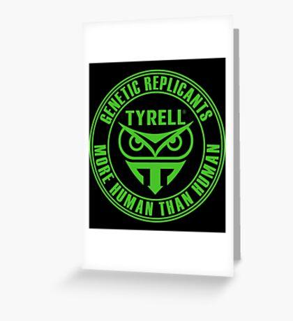 TYRELL CORPORATION - BLADE RUNNER (GREEN) Greeting Card