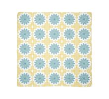 Blue Kaleidoscopic Flowers Scarf
