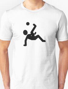 Soccer player kick Unisex T-Shirt