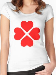 Heart Flower Women's Fitted Scoop T-Shirt