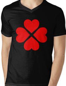 Heart Flower Mens V-Neck T-Shirt