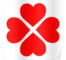 Heart Flower Poster