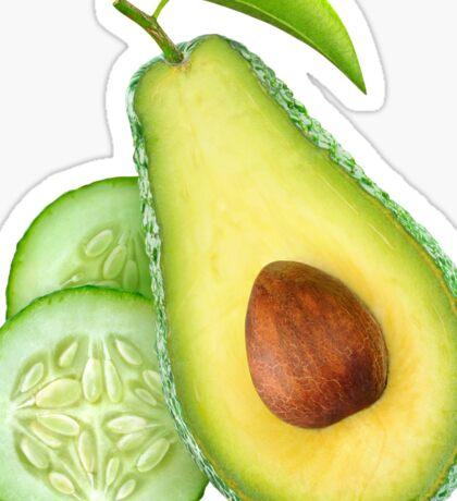 Avocado and cucumber Sticker
