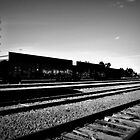 Railroad Yard in rural Massachusetts by ShellyKay