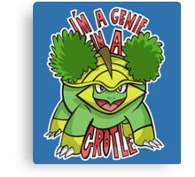 PokéPun - 'Genie In a Grotle' Canvas Print