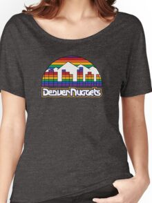DENVER NUGGETS BASKETBALL RETRO Women's Relaxed Fit T-Shirt
