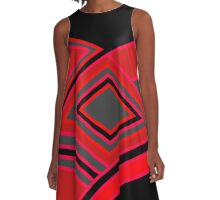 Abstract 3 A-Line Dress