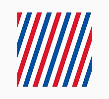 Blue, white and red stripes pattern Unisex T-Shirt