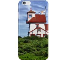Fort Point Lighthouse - Nova Scotia iPhone Case/Skin