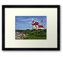 Fort Point Lighthouse - Nova Scotia Framed Print