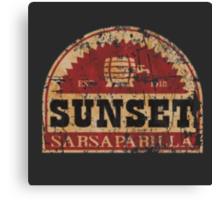 Sunset Sarsaparilla Canvas Print