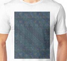 Pattern 001 Hawaiian Vibes Blue Squares Unisex T-Shirt