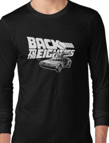 Delorean Back to the Future 80s Style Long Sleeve T-Shirt