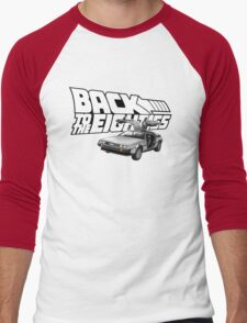 Delorean Back to the Future 80s Style Men's Baseball ¾ T-Shirt