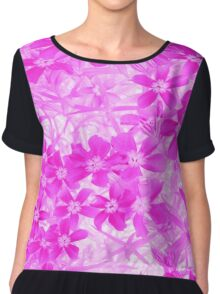 Pink Flowers Graphic©  (A1915pfg) Chiffon Top