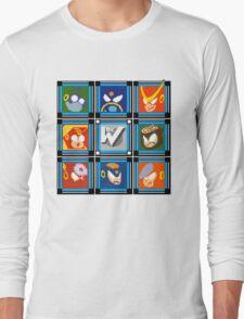 Megaman 2 Boss Select Long Sleeve T-Shirt