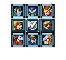 Megaman 2 Boss Select Photographic Print