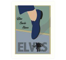 """Blue Suede Shoes"" Elvis Presley Art Print"