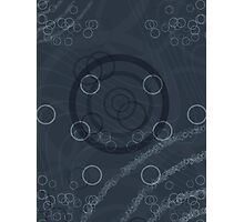 Pattern 002 Galactic Echos Blue Circles Shapes Photographic Print