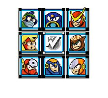 Megaman 2 Boss Select Photographic Print