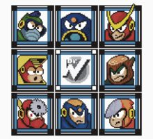 Megaman 2 Boss Select Kids Tee