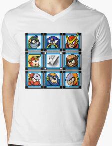 Megaman 2 Boss Select Mens V-Neck T-Shirt
