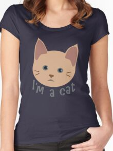 I'm a cat Women's Fitted Scoop T-Shirt