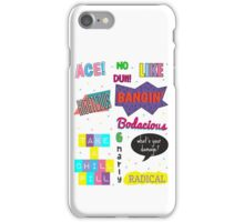 80's Slang Design iPhone Case/Skin