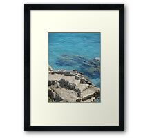 Step into the water Framed Print
