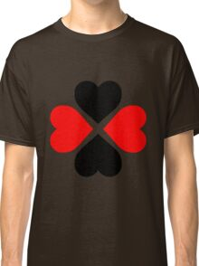 Black Red Hearts Classic T-Shirt