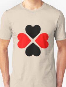 Black Red Hearts Unisex T-Shirt