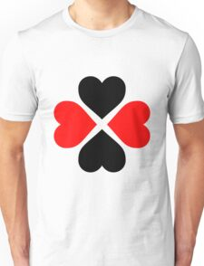 Black Red Hearts Unisex T-Shirt