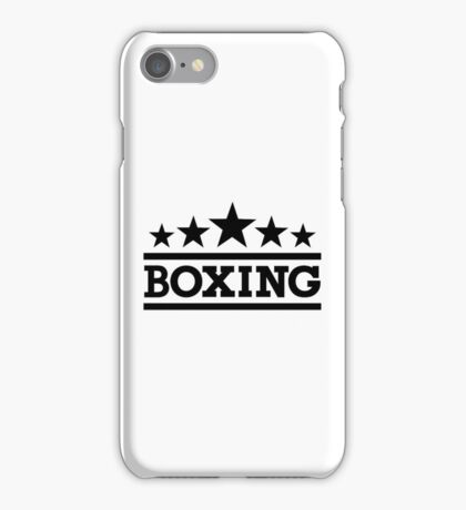 Boxing sports iPhone Case/Skin